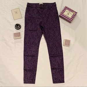 Marks and Spencer fern and floral purple jeggings